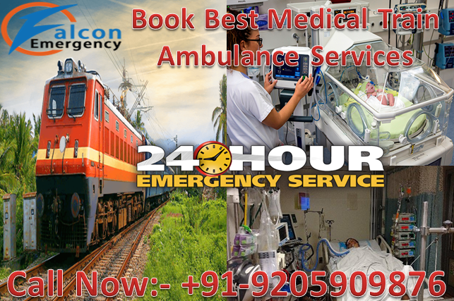 24 Hours Helpful Falcon Train Ambulance Patient Transfer Services 07